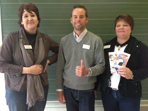 Frau Hasberg und Frau Jost aus der Personalabteilung von dem Rheinisch-Bergischen Kreis, die bereits zum vierten Mal an der Veranstaltung teilnahmen,  brachten als Verstärkung ihren Auszubildenden Herr Kluwe mit.