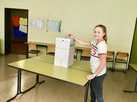Juniorwahl am BKSB (Foto: Sandra Koglin)